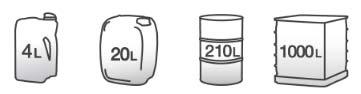 gamme de contenant liquide de refroidissement