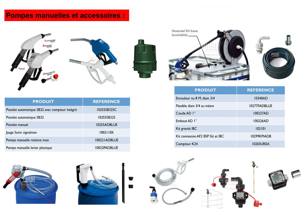 Acheter de l'AdBlue les Pompes manuelles et accessoires