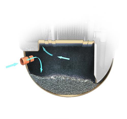 Décanteur primaire de la Micro Station Epuration Autonome BioDisc