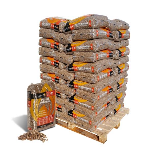 Livraison Granulés Bois CREPITO fabriqué en France, 100% résineux.