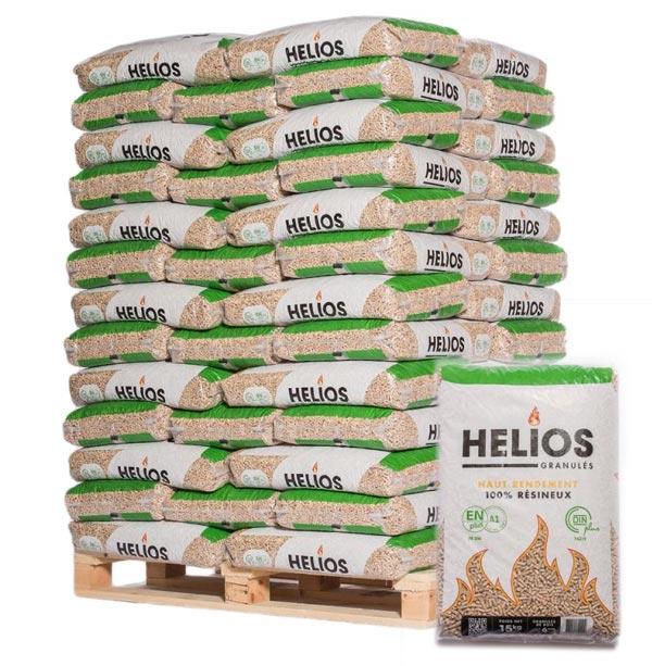 Livraison Granulés Bois HELIOS fabriqué en France, 100% résineux.