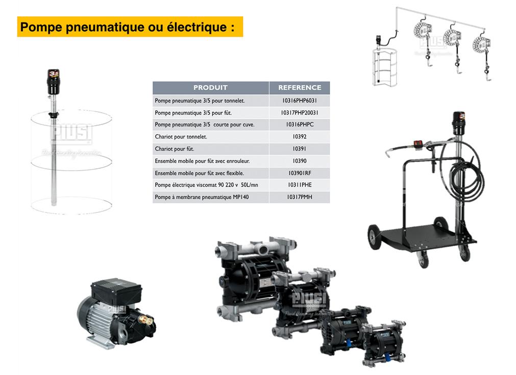 Pompe pneumatique et élecrique carburants